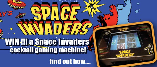 WIN a Space Invaders Game console...click here to find out how